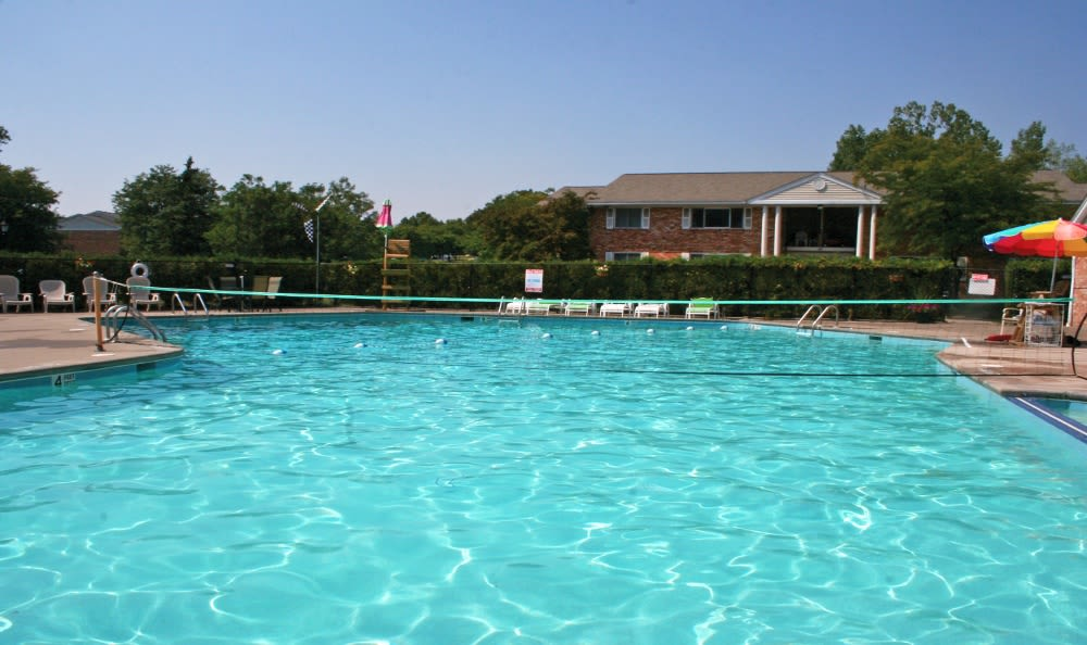 Sparkling swimming pool at Henrietta Highlands in Henrietta, New York