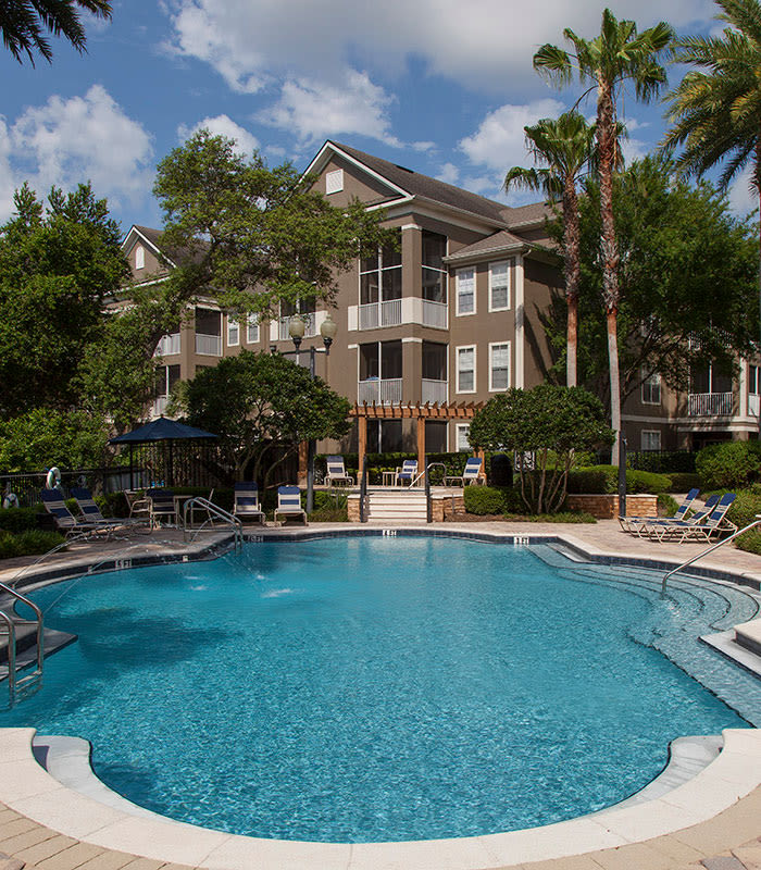 Beautiful swimming pool at The Estates at Park Avenue in Orlando
