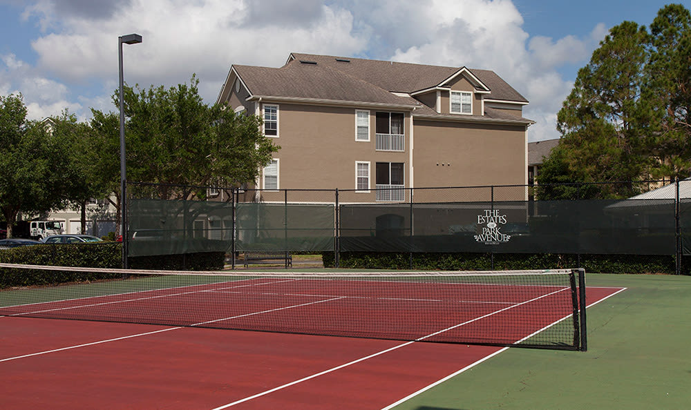 Tennis courts at The Estates at Park Avenue in Orlando