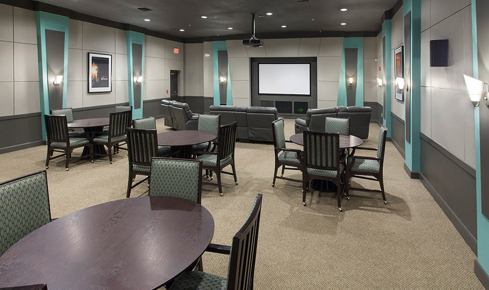 Lavish movie theater for resident use at The Estates at Park Avenue in Orlando