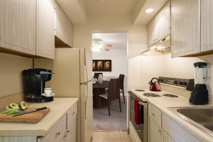 Upgraded kitchen at Imperial North Apartments in Rochester, New York