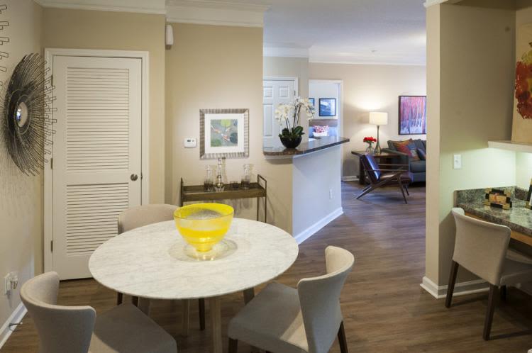 Kitchen area at Carrington Park Apartments