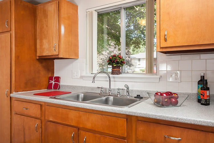 Kitchen sink at Long Pond Gardens Senior Apartments