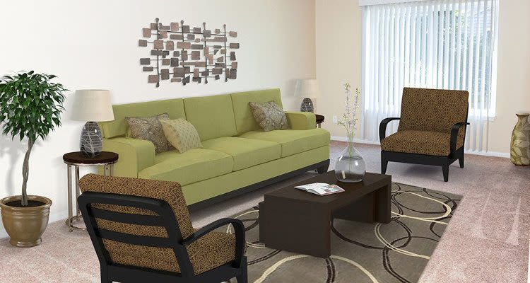 Ample living space at Newcastle Apartments home in Rochester, NY