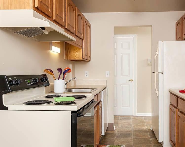 Modern kitchen at Newcastle Apartments