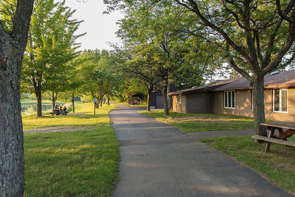 North Ponds Park pathway in Webster, New York
