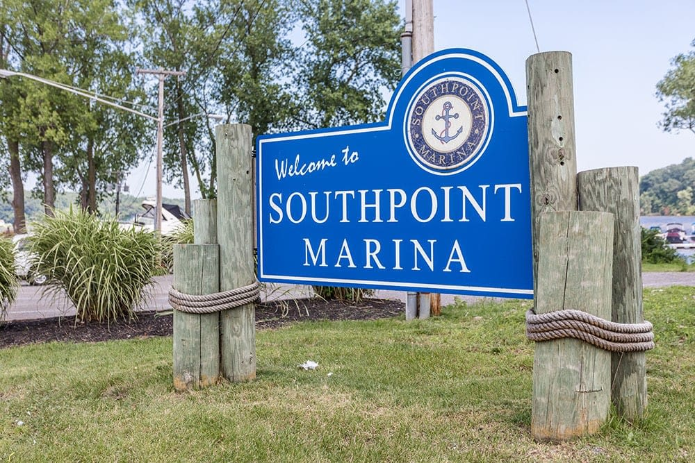 Southpoint Marina along Irondequoit Bay in Webster, New York