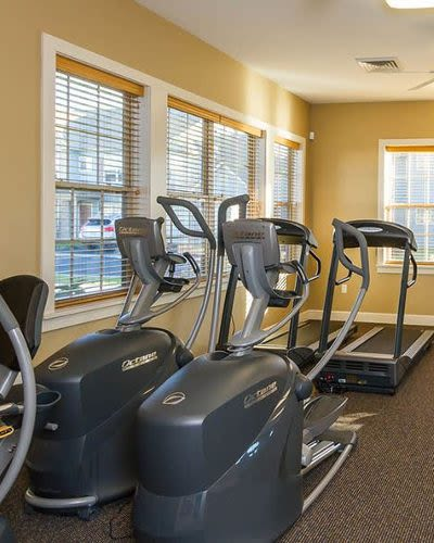 Fitness machines at Winding Creek Apartments in Webster, New York