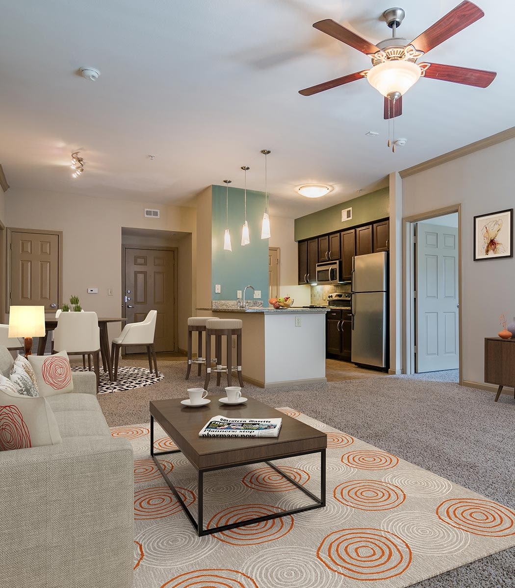 Open floor plans at West End at City Center