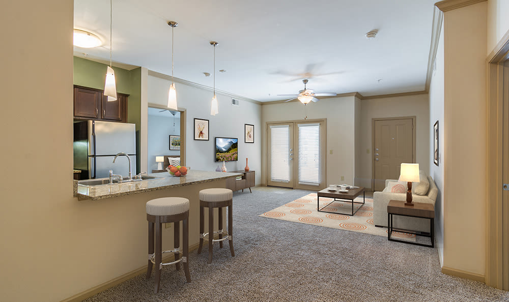 Beautifully designed and open floor plan in model home at West End at City Center in Lenexa