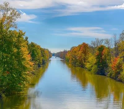 Erie canal in Rochester, New York