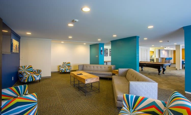 Clubhouse interior at Riverton Knolls