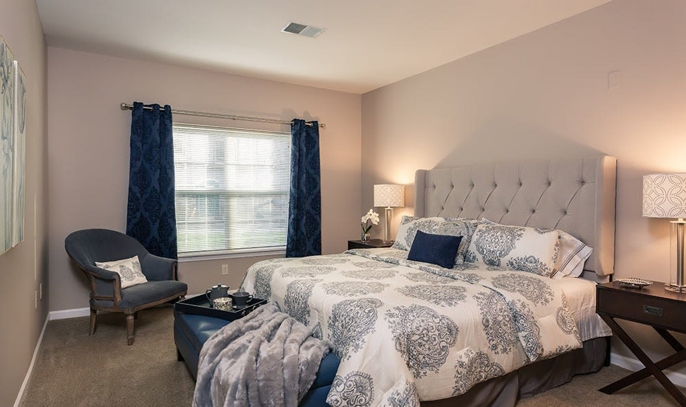 Bedroom at Waters Edge Apartments in Webster, New York