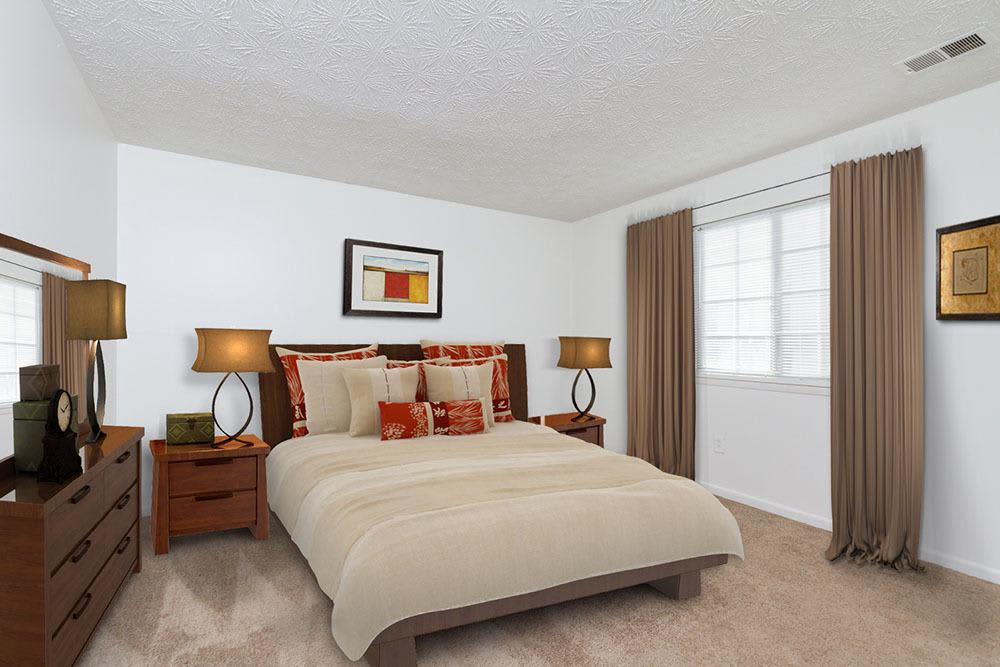 Bedroom at Waverlywood Apartments and Townhomes home in Webster, NY