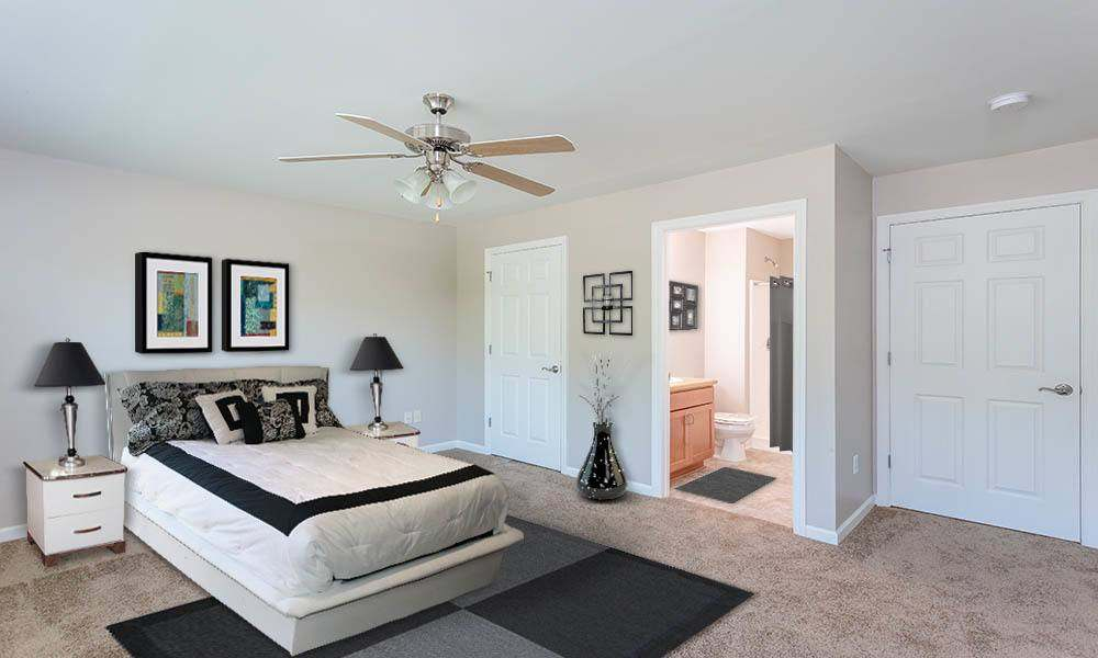 Well decorated bedroom at Webster Green home in Webster
