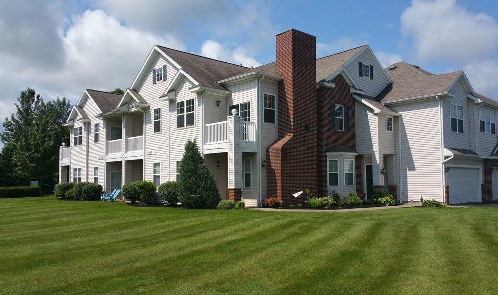 Front exterior view of Webster Green apartments in Webster, NY