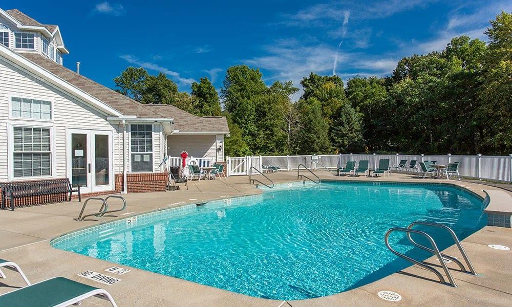 Enjoy a refreshing swimming pool at Webster Green
