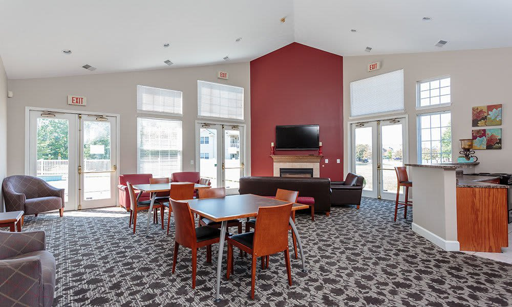 Webster Green clubhouse interior in Webster, New York