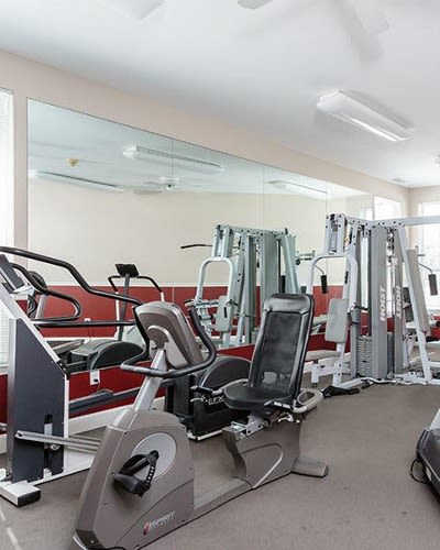 Fitness center at Webster Green in Webster, New York