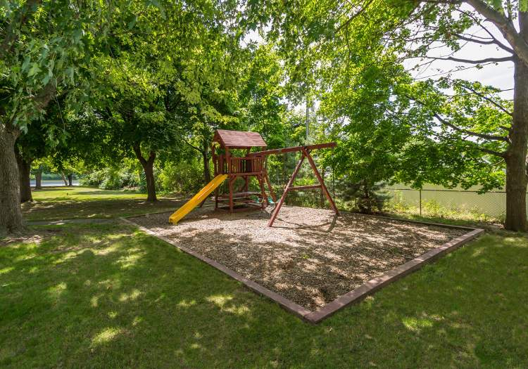 Playground at Wedgewood West community situated in Rochester, NY