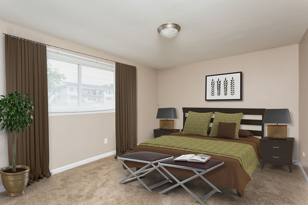 Enjoy apartments with a unique bedroom at Wellington Manor