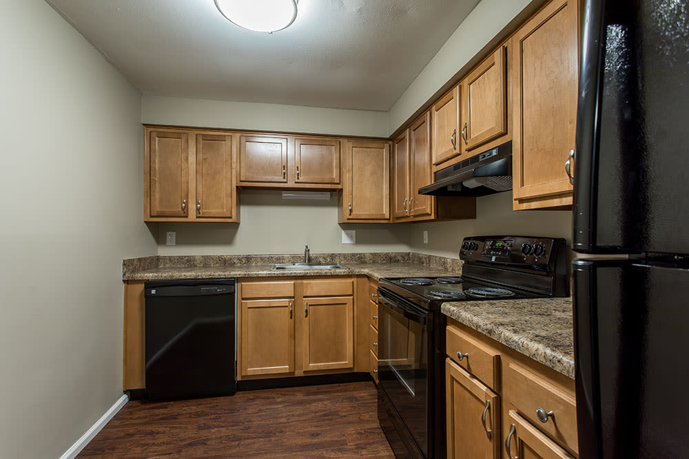 Kitchen at apartments in Liverpool, New York