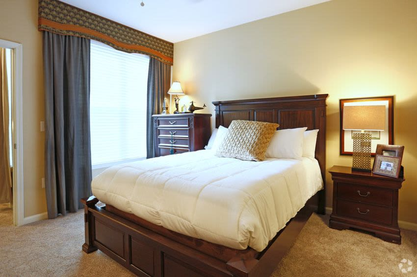 Enjoy a beautiful bedroom at Brookstone in Rock Hill