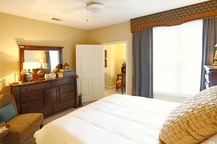 Our apartments in Rock Hill, SC showcase a beautiful bedroom