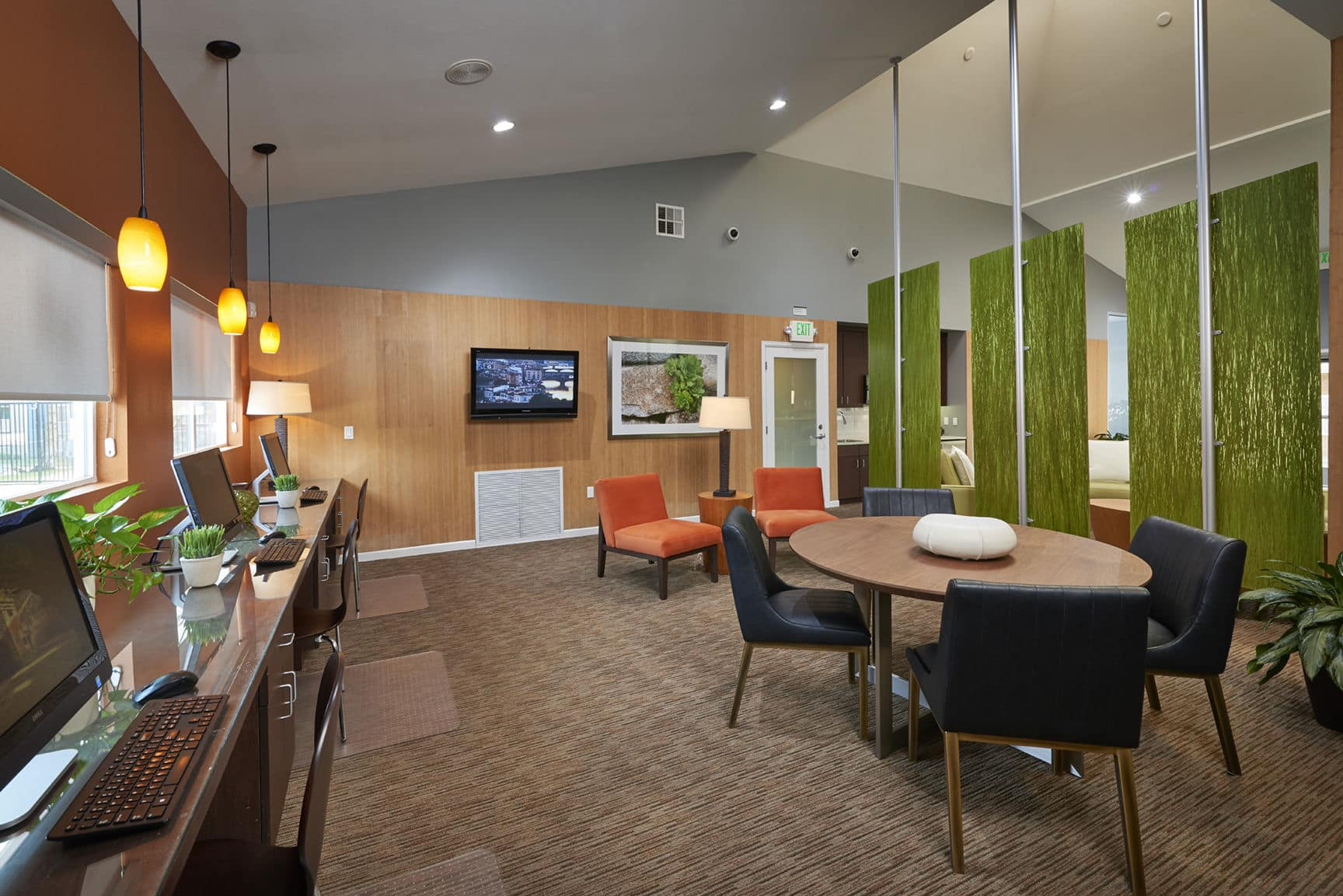 Business Center at Alton Green Apartments in Denver, CO