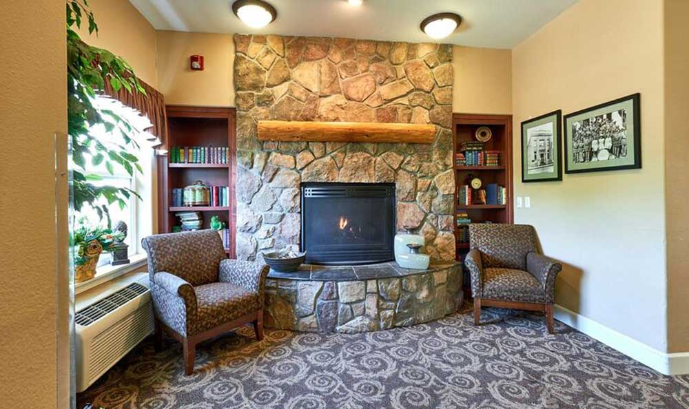 Common area with fire place in Middlefield