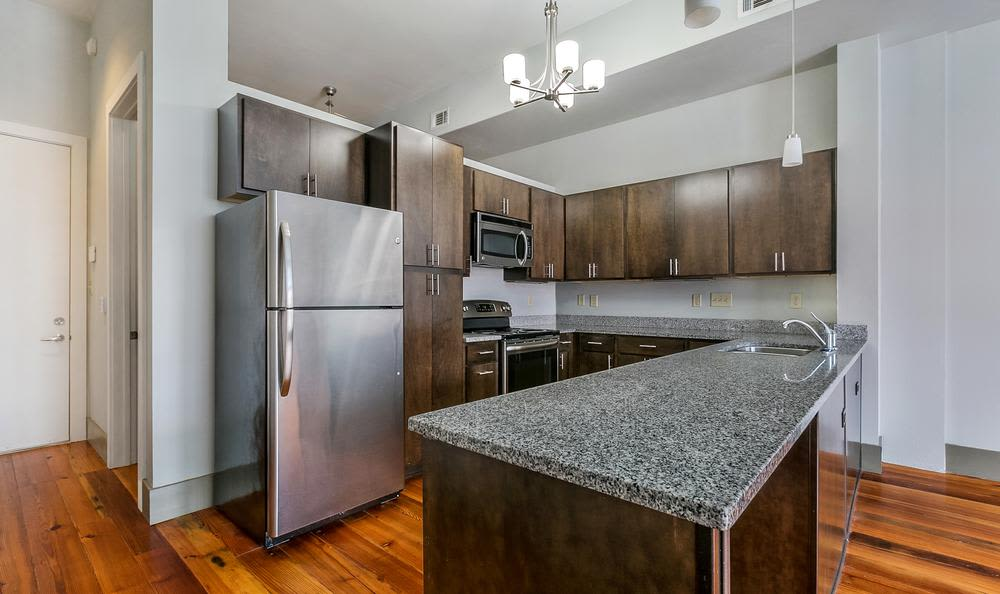 Beautiful kitchen  at Josephine Lofts in New Orleans, LA.