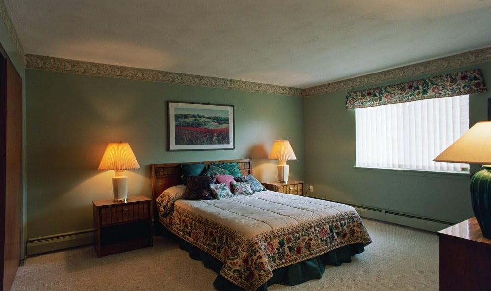 Enjoy a bedroom at Lake Vista Apartments luxury apartments