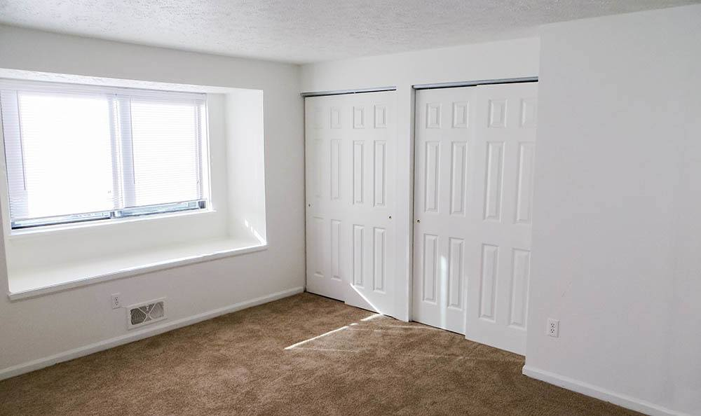Closets and windows at Parkway Manor Apartments in Rochester