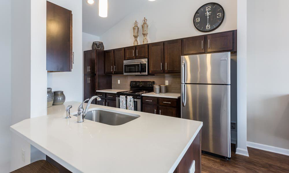 Enjoy a kitchen at Union Square Apartments modern apartments