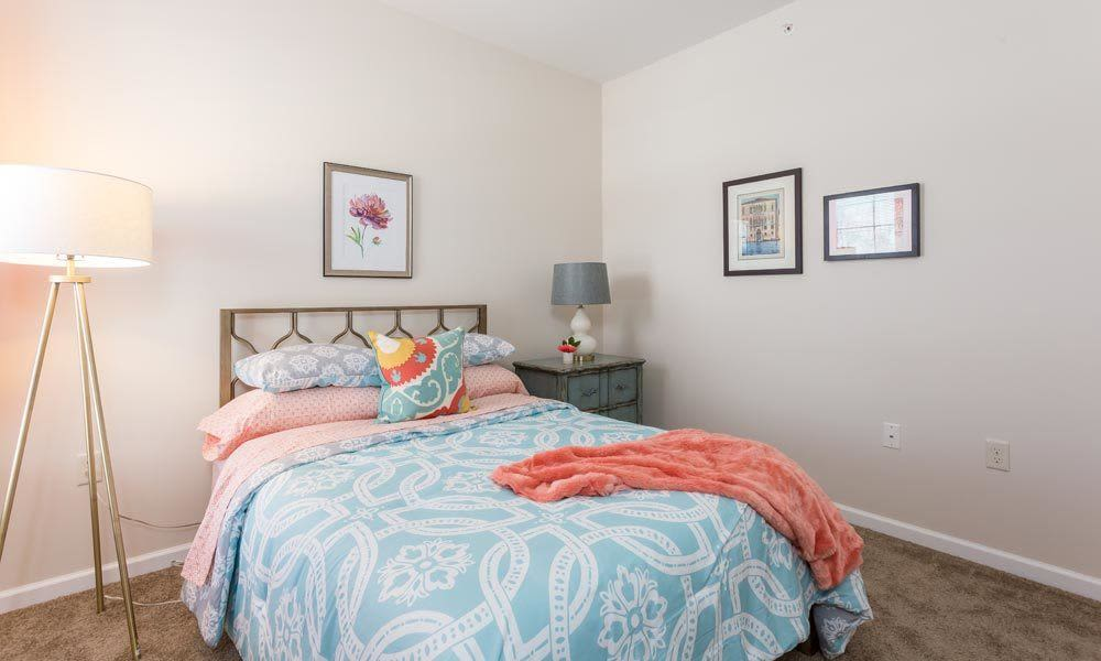 Union Square Apartments offers a luxury bedroom in North Chili, New York