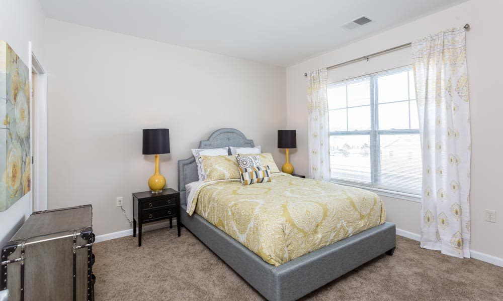 Bedroom at Union Square Apartments in North Chili