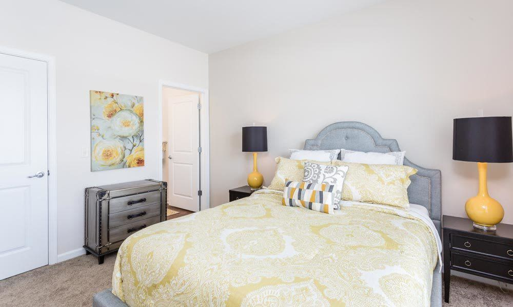 Enjoy a bedroom at Union Square Apartments luxury apartments