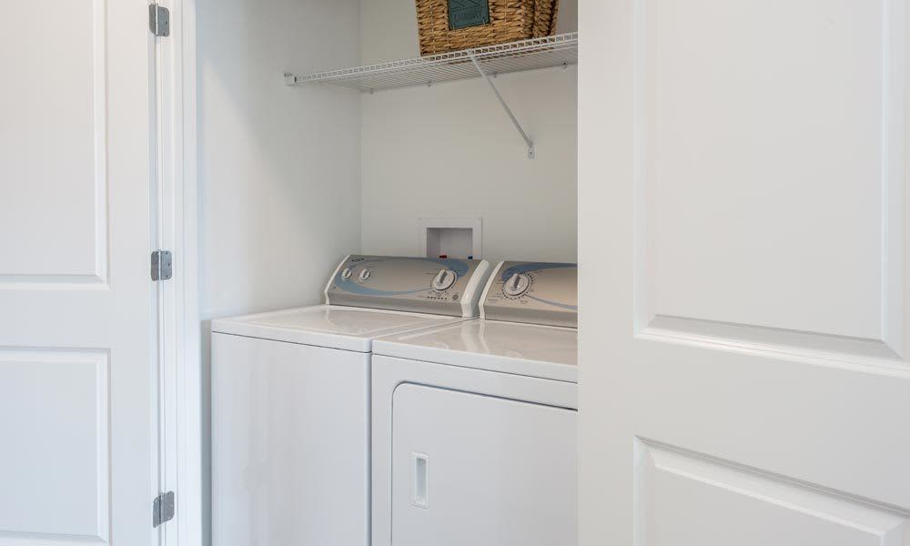 Washer and dryer at Union Square Apartments in North Chili, NY