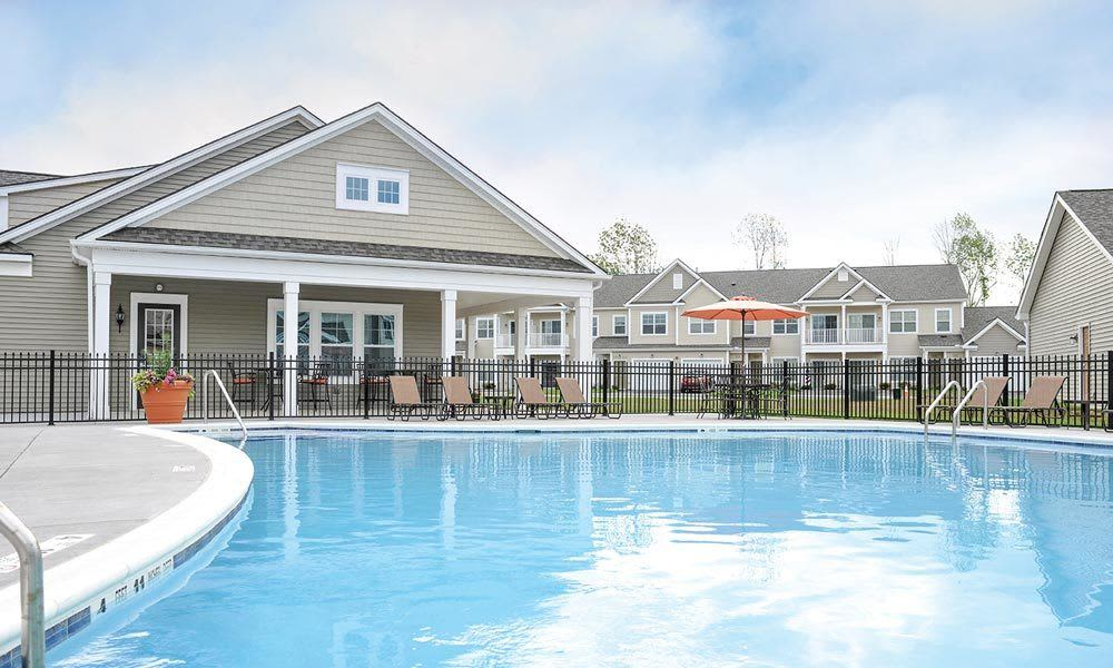 Swimming pool at Union Square Apartments in North Chili, NY