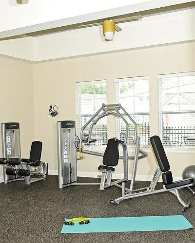 Fitness center at Union Square Apartments in North Chili, New York