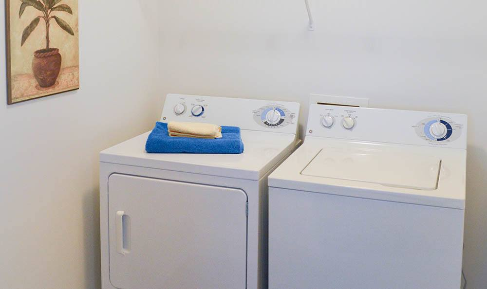 Washer and dryer at Westview Commons Apartments in Rochester