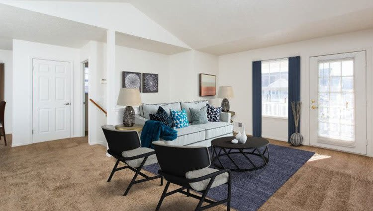 Beautifully designed living room at Westview Commons Apartments