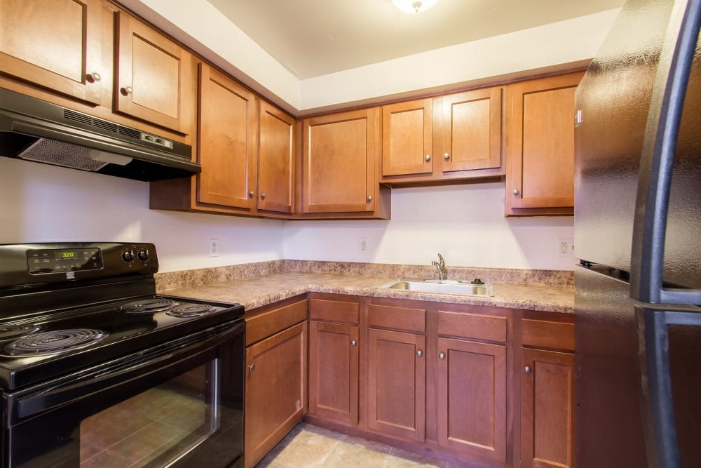Our apartments in Rochester, NY showcase a beautiful kitchen