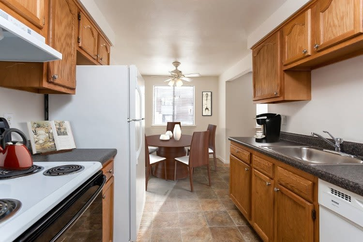 Modern kitchen at East Ridge Manor Apartments in Rochester, NY