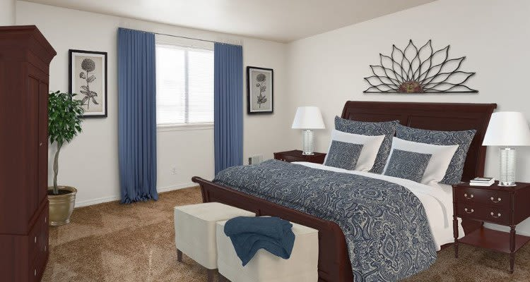 Bedroom at East Ridge Manor Apartments