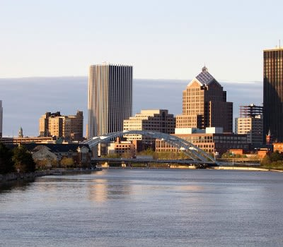 Rochester view in New York