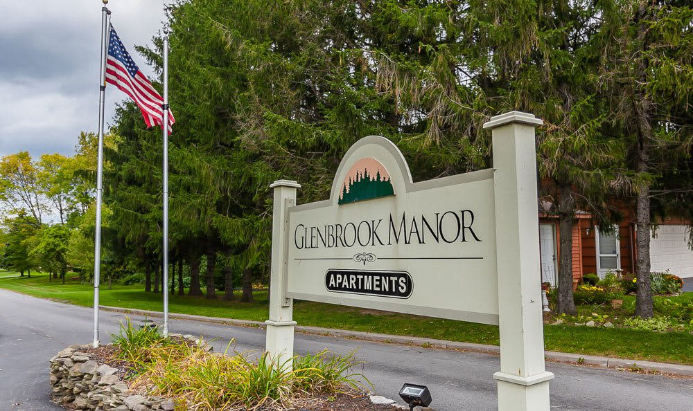 Signage at Glenbrook Manor Apartments in Rochester, NY