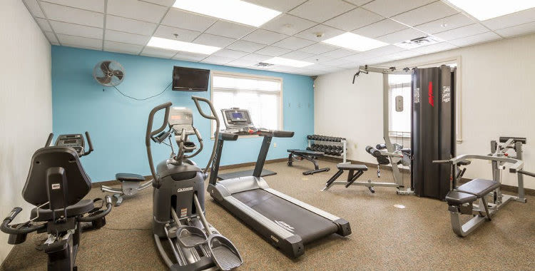 Stay healthy in our fitness center at Highview Manor Apartments