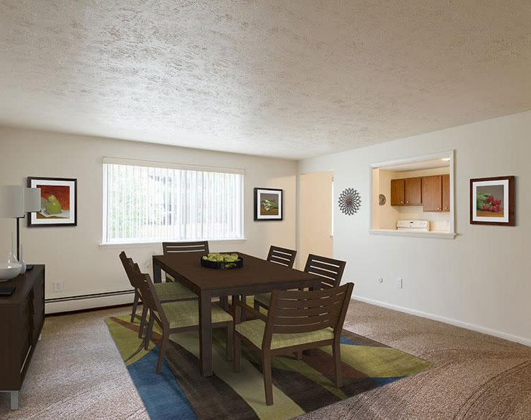 Spacious dining room at Highview Manor Apartments