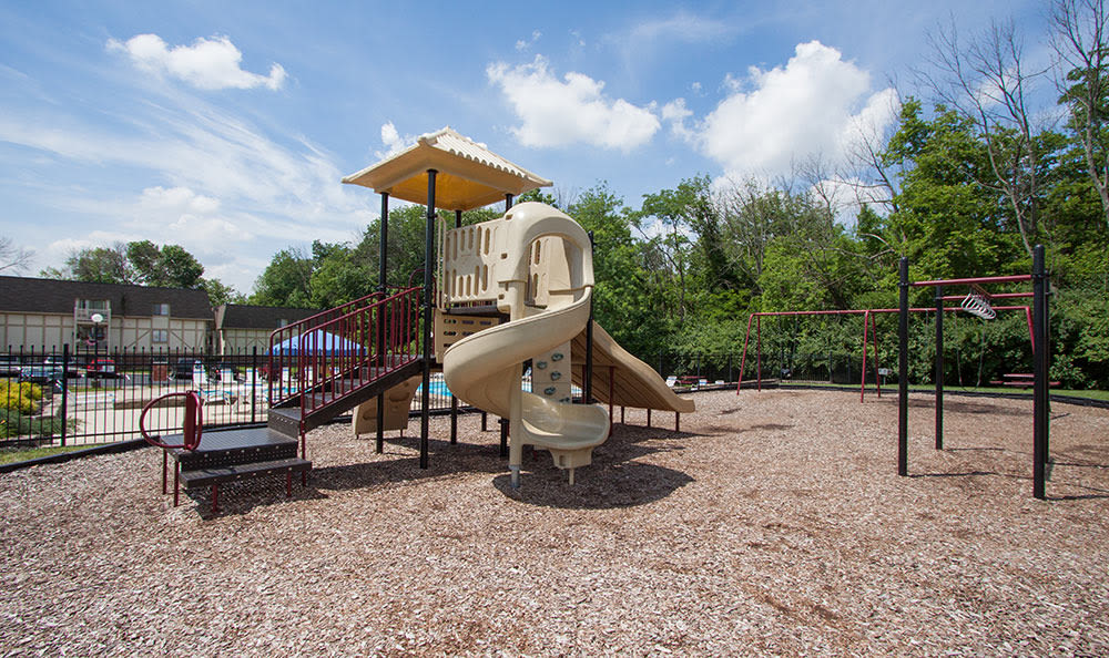 On-site playground at Bavarian Woods in Middletown